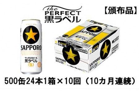 【頒布会】サッポロ生ビール黒ラベル500ml缶 24本 1箱×10回(10カ月連続)