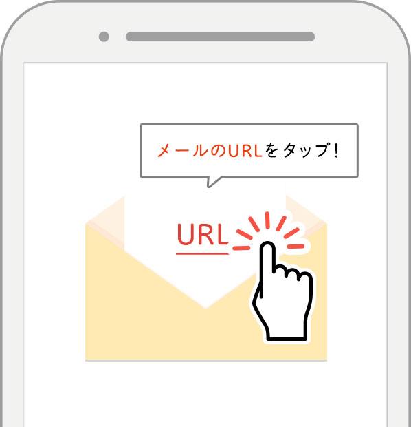 メールのURLをクリック!